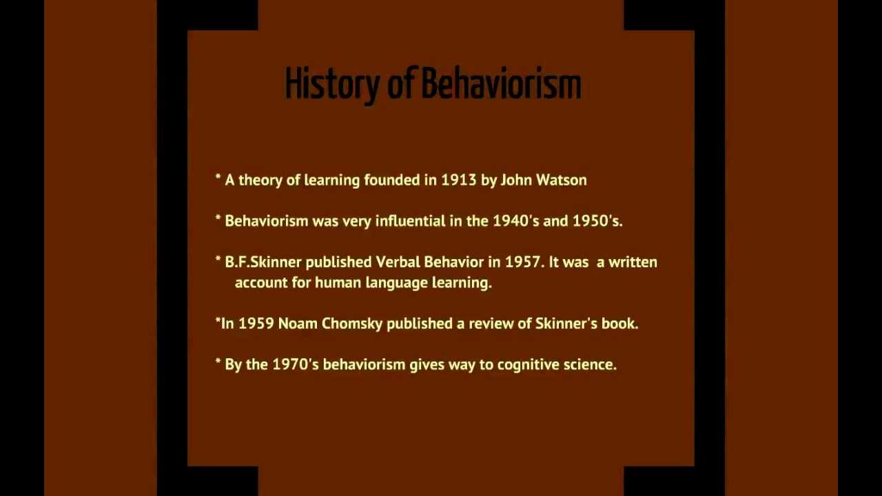 behaviorist theory of language acquisition