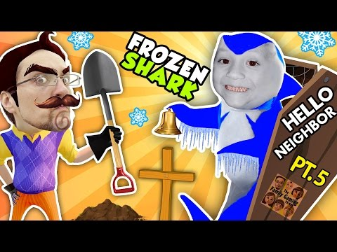 Thumbnail: HELLO NEIGHBOR, WE FROZE YOUR SHARK! + DEAD BODY FOUND!? FGTEEV Part 5: Entering Basement of Alpha 1