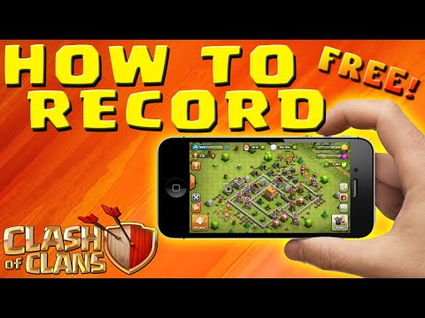 Clash of Clans- HOW TO RECORD iPOD, iPAD, iPHONE GAMEPLAY - No Jailbreak & FREE!