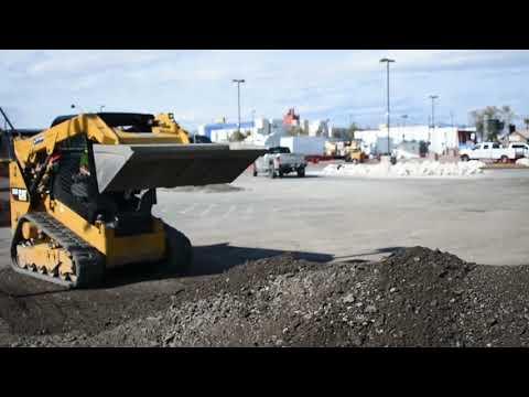 CAT 259D Track Skid Steer Loader Moving Dirt