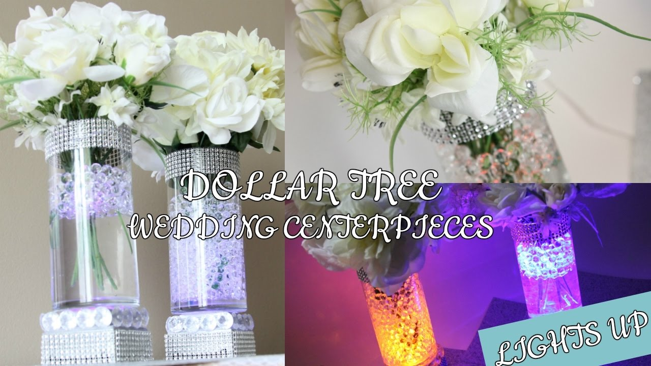 DOLLAR TREE WEDDING LIGHT UP CENTERPIECES D.I.Y - YouTube