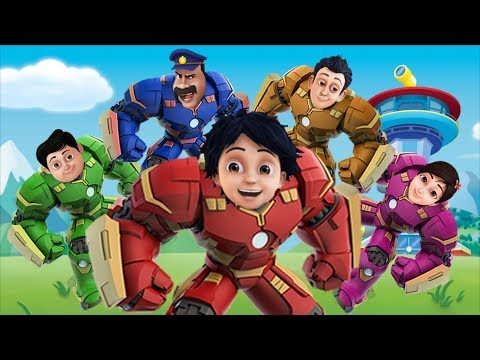 Shiva ANTV Transform into HULKBUSTER Finger Family Song Superhero Family for Kids and Toddlers
