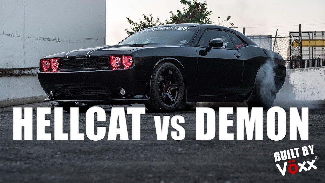 Voxx Wheel - HELLCAT vs DEMON - YouTube