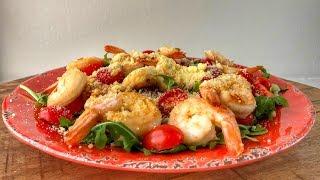 Салат с Рукколой и Креветками | Рецепт | Знаем что готовить !
