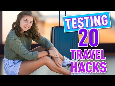 Testing 20 Travel Hacks + Airport Tips & Tricks!