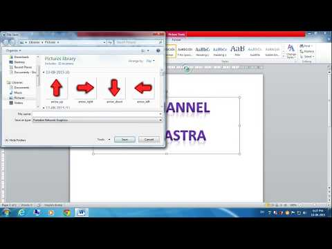 How To Save Text As A Picture In MS Word