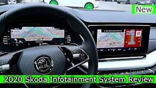 Skoda New INFOTAINMENT SYSTEMS Digital Cockpit Multimedia Navigation Review 2020