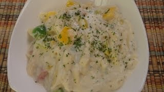 Quick Pasta In White Sauce