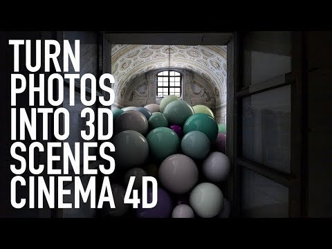 TURN PHOTOS INTO 3D SCENES CINEMA 4D TUTORIAL