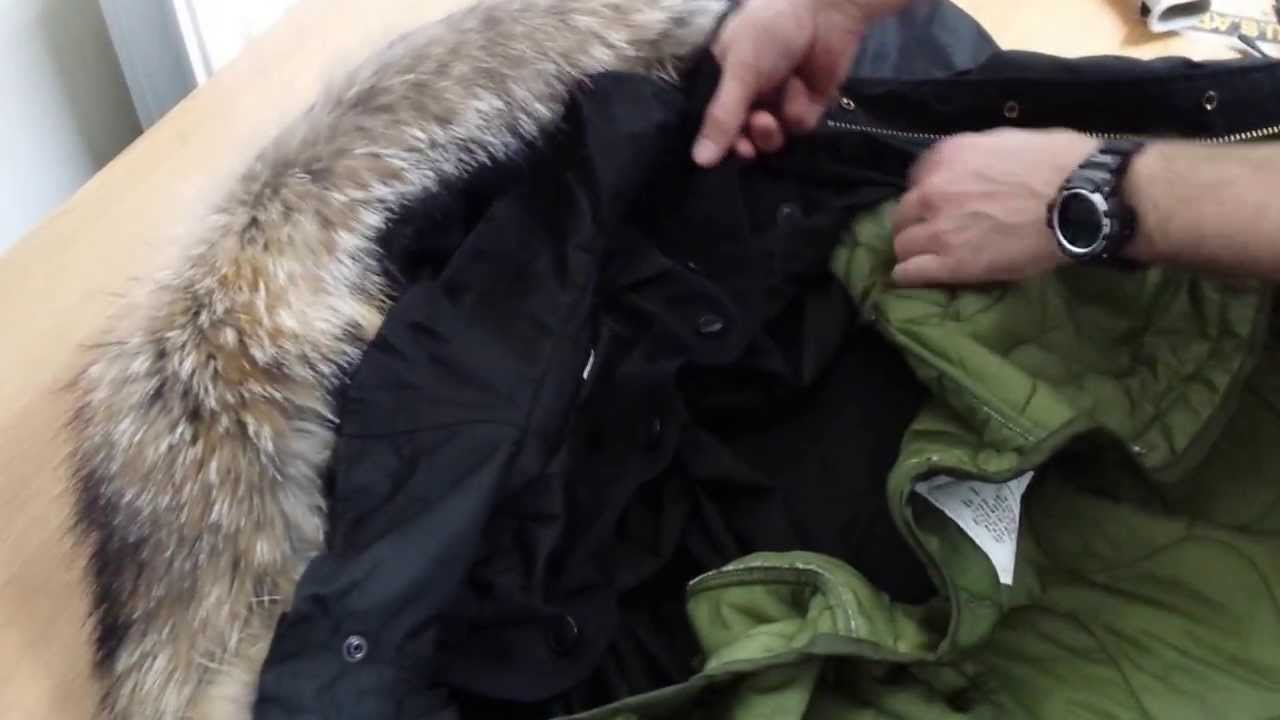 How To Attach A Classic M-1951 (Replica) Parka Hood - YouTube