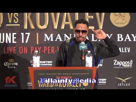 ANDRE WARD POST FIGHT PRESS CONFERENCE; TALKS KOVALEV K.O, ANTHONY JOSHUA & PERFORMANCE
