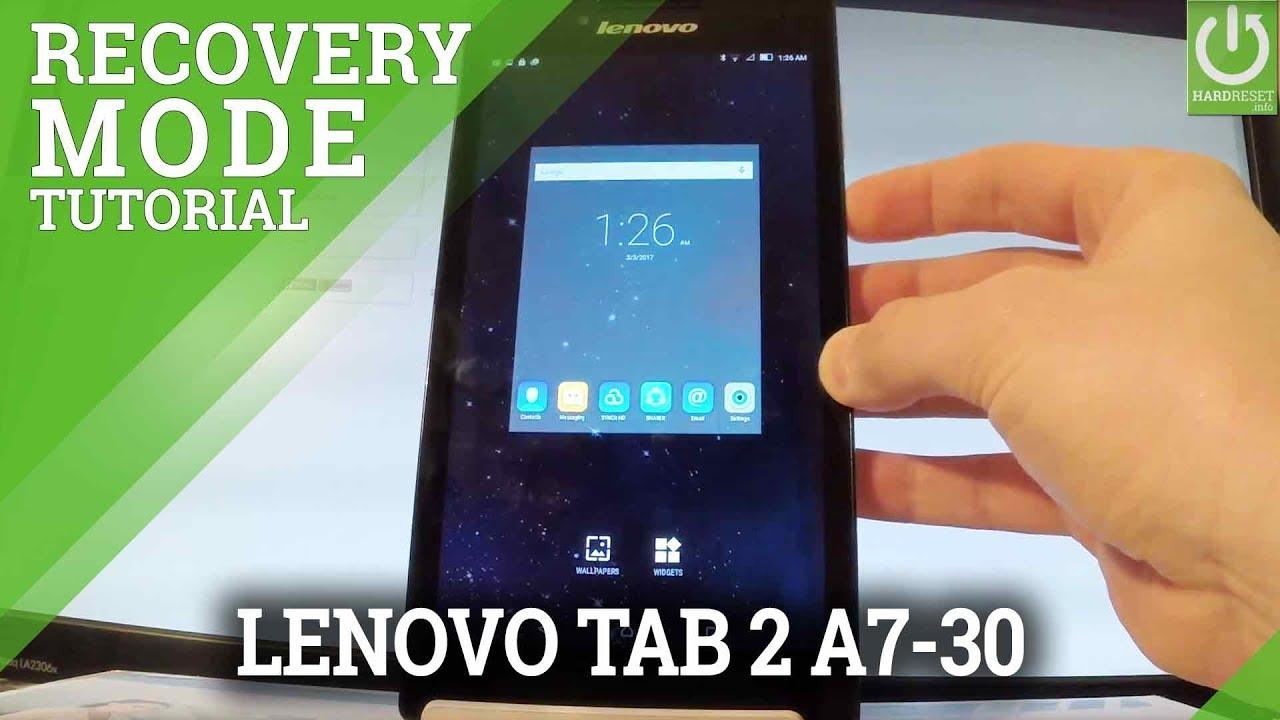 Recovery Mode LENOVO Tab 2 A7-10 - HardReset info