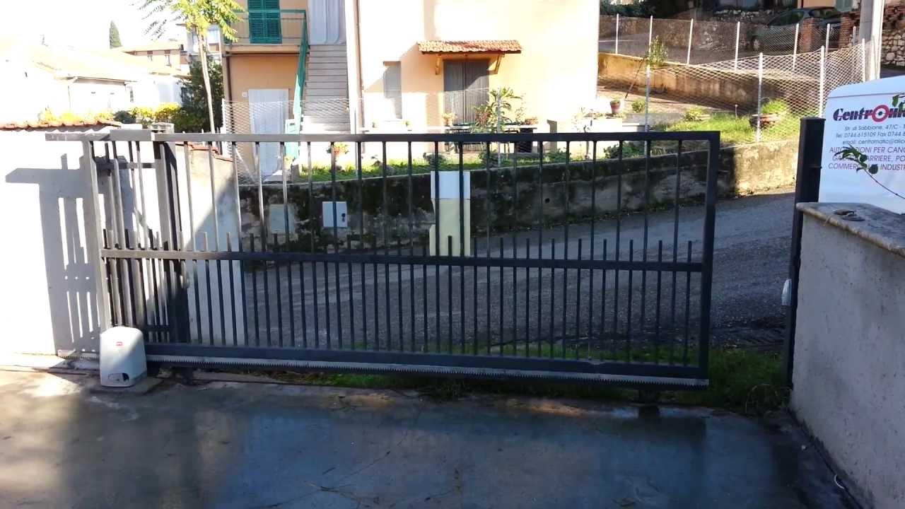 Centromatic terni cancello scorrevole motorizzato bft a for Cancello scorrevole monoblocco