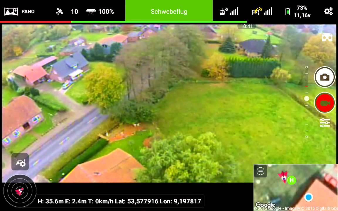 Litchi for DJI Phantom/Inspire - Panorama + Focus Test with P2V+