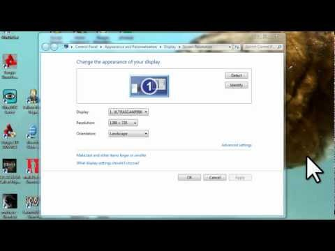 Windows 7 - Adjust Screen Resolution, Refresh Rate, and Icon Size - Remove Flicker [Tutorial]