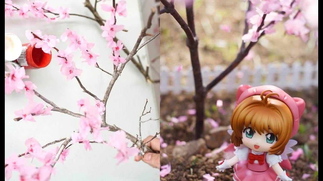 diy how to make miniature cherry blossom tree youtube