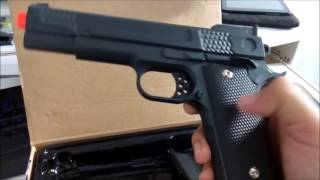 Pistola de airsoft modelo G20 full metal cal 6mm