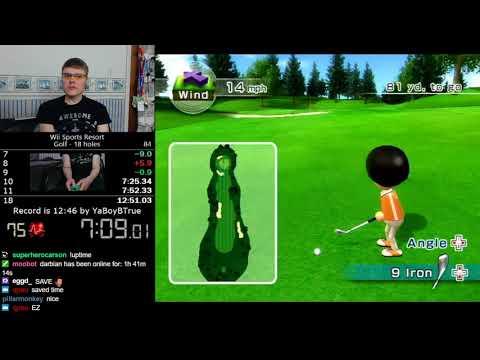 (12:32) Wii Sports Resort Golf (18 holes) speedrun *Former World Record*