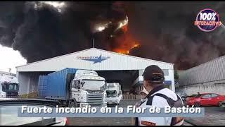 Fuerte incendio en la Flor de Bastión en Guayaquil