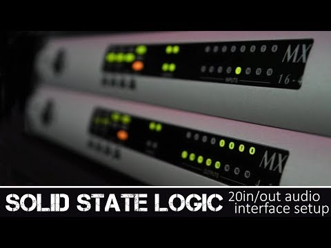 SOLID STATE LOGIC 20in/out Audio Interface Setup