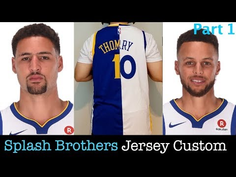 Splash Brothers Custom Jersey DIY Part 1: Creating The Base Jersey Steph Curry & Klay Thompson