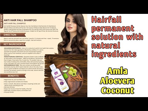 Complete hairfall solution with natural ingredients |  Teamex Antihairfall Shampoo explanation