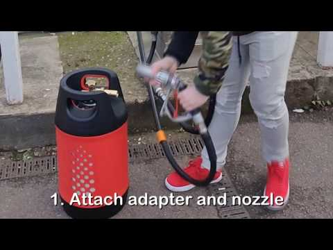 How To Refill Propane Butane Gas Cylinder With Overfill Protection Device