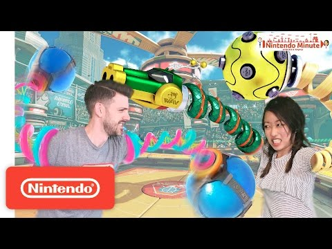 Generate ARMS New Character Battle – Nintendo Minute Screenshots