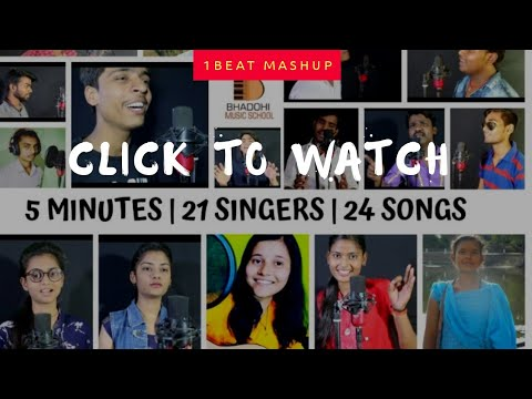 1 Beat Mashup | 5 Minutes | 21 Singers | 24 Songs | Official Video | Face- Revealed Video