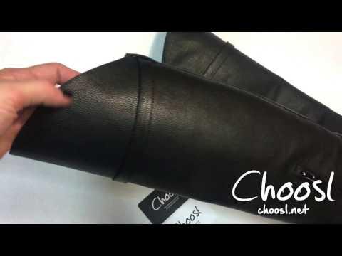 Жокейские сапоги из итальянской кожи флотар. Черный цвет — Choosl