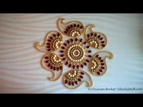 how to make kundan rangoli on ohp sheet