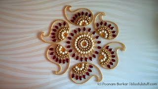 How to Make rearrangable kundan Rangoli, DIY Kundan Rangoli