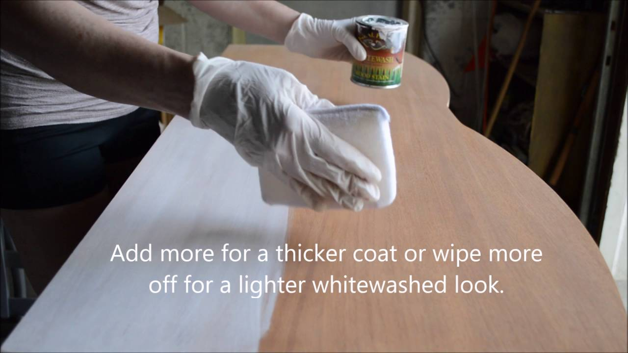 How To Apply General Finishes Whitewash Wood Stain Youtube