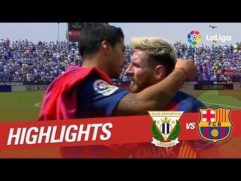 Resumen de CD Leganés vs FC Barcelona (1-5)