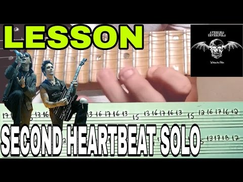 SECOND HEARTBEAT Solo LESSON W/Tab(Avenged Sevenfold) Synyster gates (Waking the Fallen) VÍDEO AULA