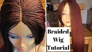 Braided Wig Tutorial (Beginner Friendly)   How To Make A Million Braided Wig Without Closure