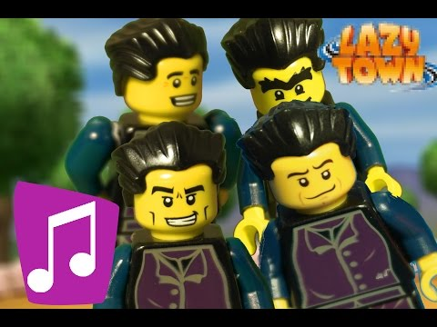 We are number one but it's animated in LEGO