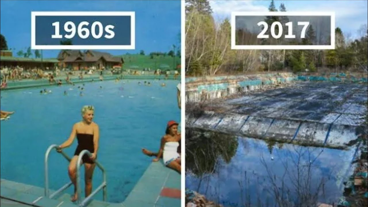 photography finds location of 1960s postcards to see how they look