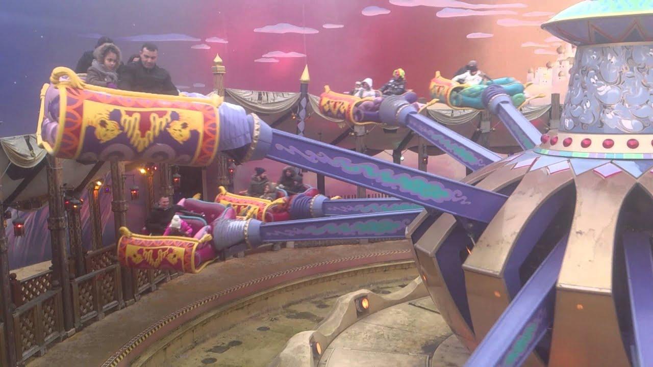 Disneyland Paris Aladdin S Flying Carpet Ride Youtube