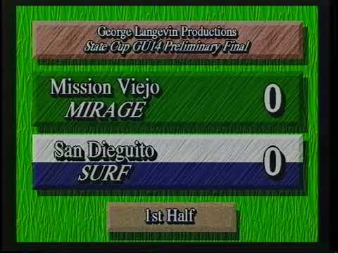 MISSION VIEJO MIRAGE  2  SAN DIEGUITO SURF  1  GU14 STATE NATIONAL CUP  4 30 1995 NR