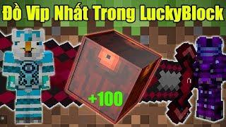 Thử Thách 24h Tìm Đồ Vip Nhất Trong Lucky Block Vip 102 Noob Và Đồ Vip Nhất Lucky Block