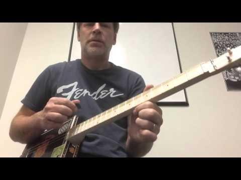 Cigar Box Guitar Lesson (OPEN D Tuning)  A  D  F#