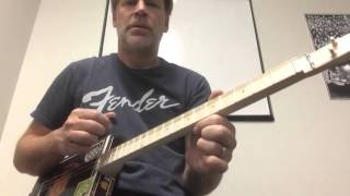 Cigar Box Guitar Lesson (OPEN D Tuning)  A  D  F#