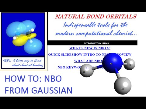 Avogadro with Gaussian + NBO