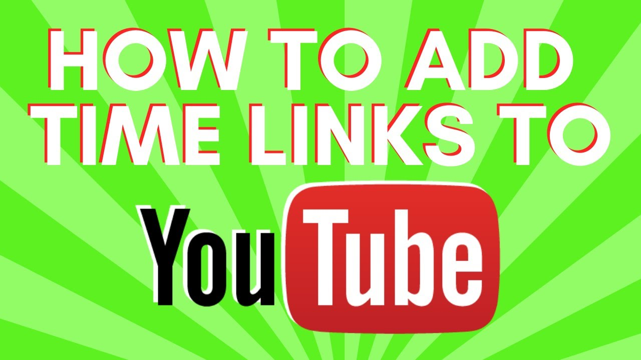 how to put links in youtube video description