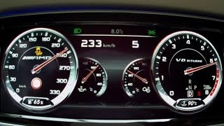 Mercedes S 63 AMG 2014 W222 - acceleration 0-230 km/h, test driving moments