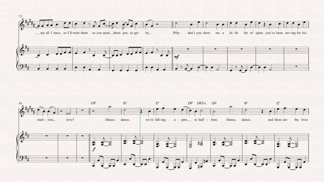 we fall down chords pdf