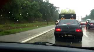 Driving in emergency lane at NKVE part 2, including a SPAD car.