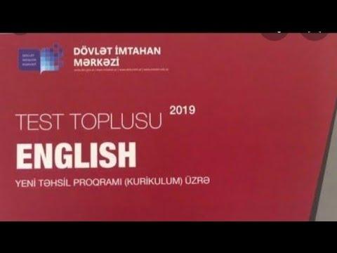 Ingilis Dili Test Toplusu Cavabları 1-ci hisse (DIM) 2019