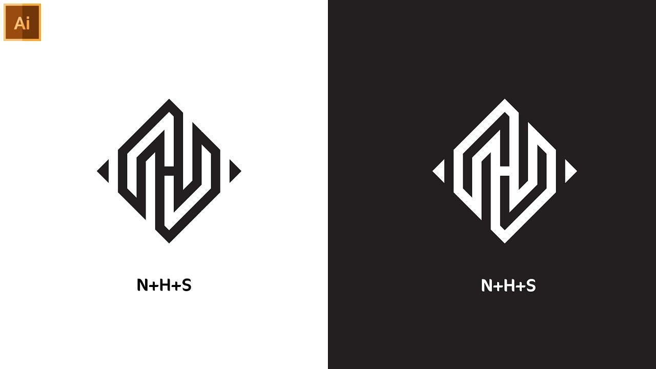 Professional Square Shape  Logo Design In Illustrator   Modern Logo Design   Graphic Hunters
